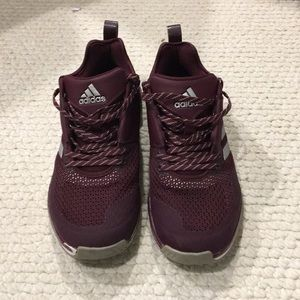 Maroon/Burgundy Adidas athletic shoes, limited